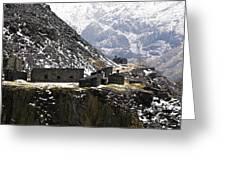 Dinorwig Quarry Buildings Greeting Card