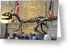 Dinosaur At The Natural History Museum Greeting Card