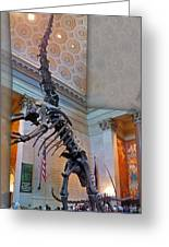 Dinosaur In New York Greeting Card