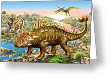Dinosaur Panorama Greeting Card