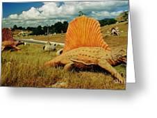 Dinosaur Sculpture Three Greeting Card