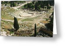 Dionysus Amphitheater Greeting Card