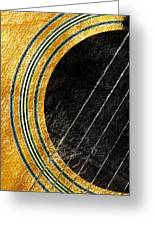 Diptych Wall Art - Macro - Gold Section 1 Of 2 - Vikings Colors - Music - Abstract Greeting Card