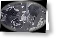 Director Martin Ritt And James Earl Jones Number 2 The Great White Hope Set Globe Arizona 1969-2013 Greeting Card