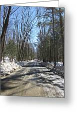 Dirt Road In March Greeting Card