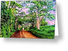 Dirt Road To Secret Beach On Kauai Greeting Card