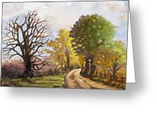 Dirt Road To Some Place Greeting Card