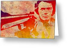 Dirty Harry - 4 Greeting Card