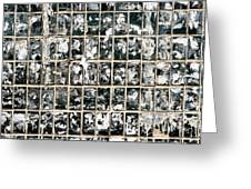 Dirty Wall Of Tiles And Paper Texture Greeting Card