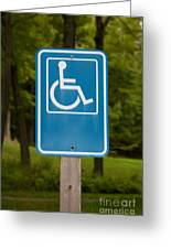 Disabled Parking Sign Greeting Card