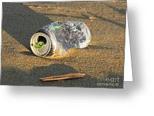 Discarded Energy Drink Can Greeting Card