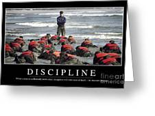 Discipline Inspirational Quote Greeting Card
