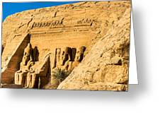 Discovering The Nubian Monuments Of Ramses II Greeting Card