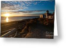 Discovery Park Lighthouse Sunset Greeting Card