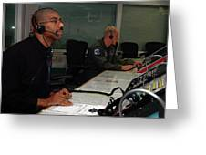 Discovery Space Shuttle Control Room Greeting Card