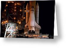 Discovery Space Shuttle Greeting Card