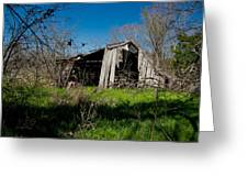 Disintegrating Barn Streetman Texas Greeting Card