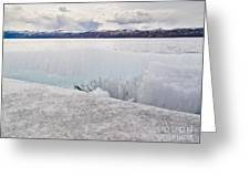 Disintegrating Candelized Melting Ice On Lake Shore Greeting Card
