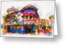 Disney Clothiers Main Street Disneyland Photo Art 01 Greeting Card