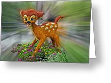 Disney Floral Bambi Greeting Card
