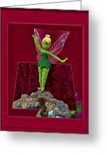 Disney Floral Tinker Bell 02 Greeting Card