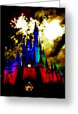 Disney Night Fireworks Greeting Card