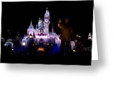 Disneyland Christmas Castle Greeting Card
