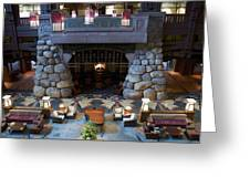 Disneyland Grand Californian Hotel Fireplace 01 Greeting Card