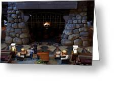 Disneyland Grand Californian Hotel Fireplace 02 Greeting Card