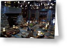 Disneyland Grand Californian Hotel Lobby 01 Greeting Card
