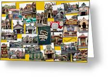 Disneyland Toontown Yellow Collage Greeting Card