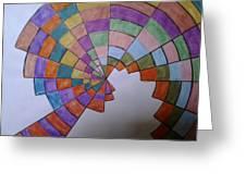 Disorientation Greeting Card