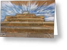 Display Hall At Temple Of Apollo Hylates Greeting Card