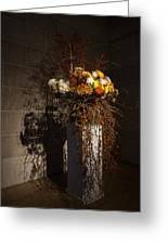 Displaying Mother Nature's Autumn Abundance Of Flowers And Colors Greeting Card