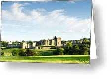 Distant Alnwick Castle Greeting Card