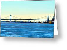 Distant Bridges Greeting Card
