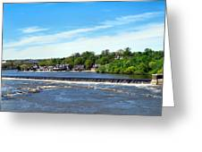 Distant Falls Greeting Card