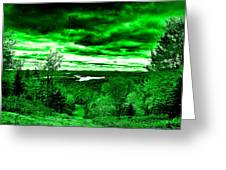 Distant Lakes Greeting Card