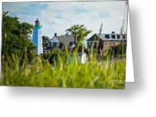 Distant Light House Greeting Card