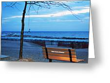 Distant Lighthouse Greeting Card