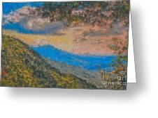 Distant Mountains - Digital Impression Paint Greeting Card