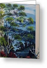 Distant Mountains Lake Greeting Card