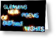 Distant Nights Greeting Card