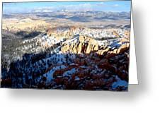 Distant Peaks Greeting Card