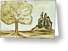 Distant Trees Greeting Card