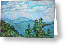 Distant View Of Peaks Of Otter Greeting Card