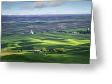 Distant Vista From Steptoe Butte Greeting Card