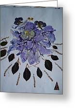 Distorted Flower-dream Greeting Card