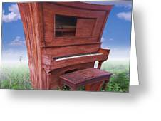 Distorted Upright Piano 2 Greeting Card by Mike McGlothlen