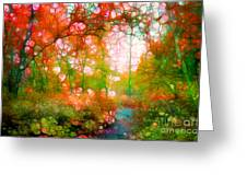 Distortions Of Autumn Greeting Card